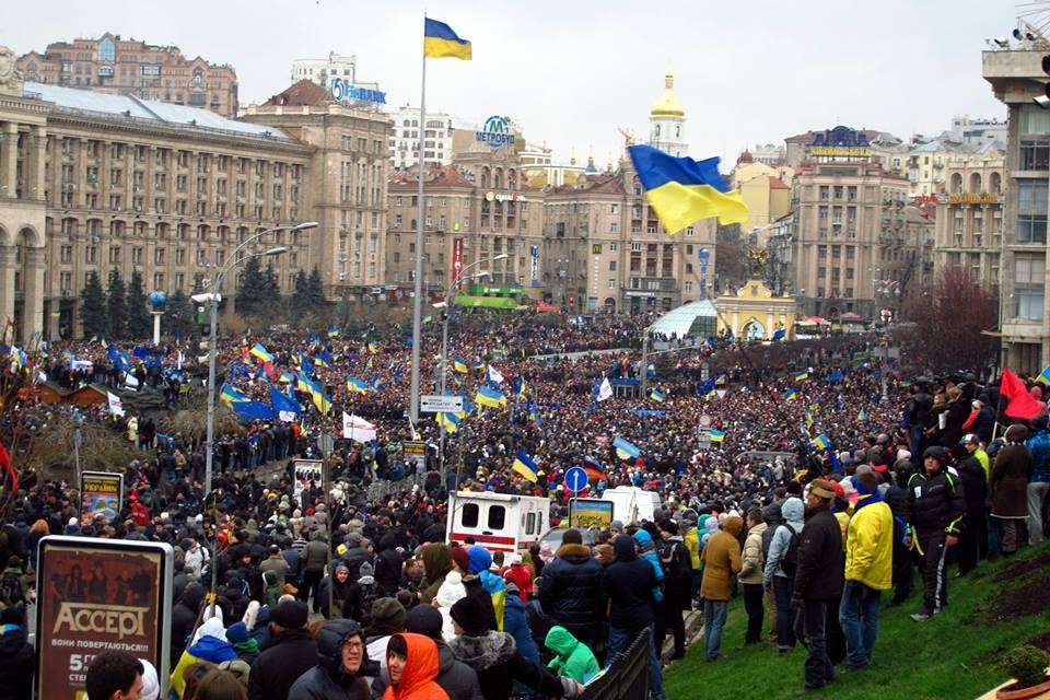 Maidanas - Kijevo Nepriklausomybės aikštė . 2013 m. gruodžio 1 d. (Alos Marčenko nuotrauka)